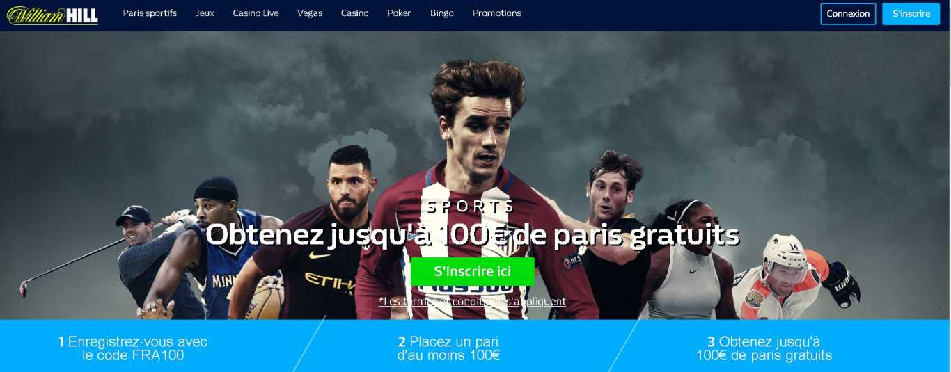 William Hill bonus first deposit