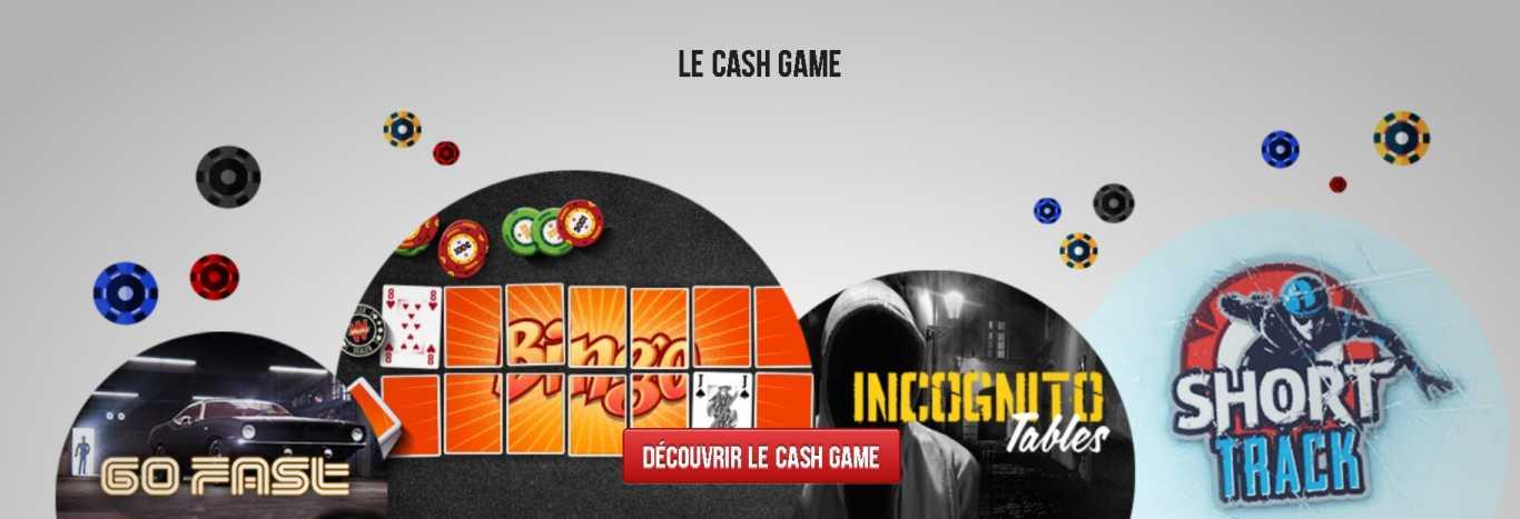 Winamax Cash games